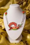 Pabu the Fire Ferret Necklace by daPatches
