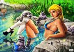 Alice - The Raccoon Pool by ElConsigliere