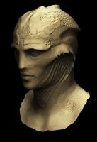 Thane Mass Effect Zbrush Clay Render 2 by vellandrew666