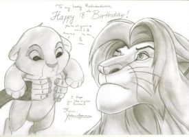 The Lion King - Birthday Card by KaydeeYaleni
