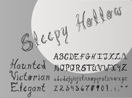 Sleepy Hollow Font Design by SparkleBat