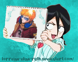 Rukia with an image of Ichigo by lorraine-aline-ruth