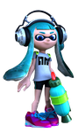 Inkling Girl, with transparency by CharretteMan