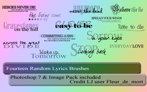 Text Brushes for Photoshop 7 by journeysend