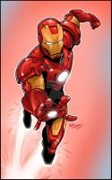 Iron Man in Action by kpetchock