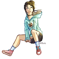 Girl In Hoodie by SorbetBerry