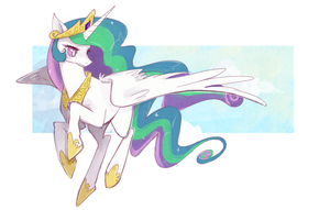50k Kiriban - Princess Celestia by Zayger