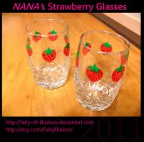 NANA's Strawberry Glasses by fairy-of-illusions