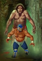 CANEK AND ANDRE EL GIGANTE by RAFAELGALLUR