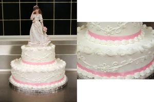 Pink Quinceanera Cake by ayarel
