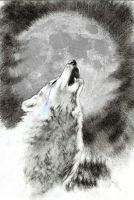 howling wolf by MADMANHales