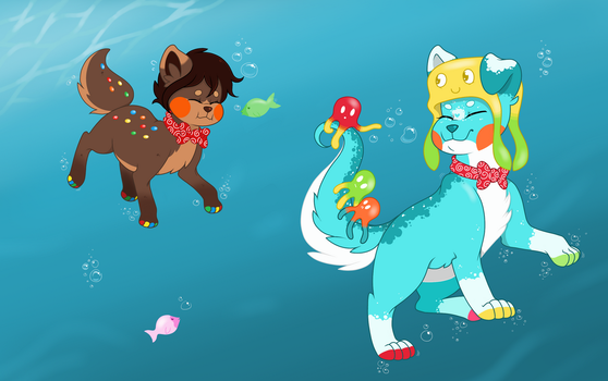 A Morning Swim by PatchworkPupper