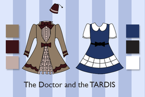 The Doctor and the TARDIS by ashweez