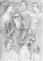 The Walking Dead sketchbook page by vetega