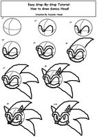 How to draw Sonics head -Easy- by Knuckle-Head