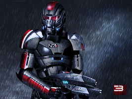 Mass Effect 3 Shepard Rain Edition Vol 2 by RedLineR91