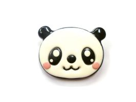 Kawaii panda brooch polymer clay animal brooch by TenereDelizie