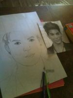 Adam Lambert (WIP) by Dragon-of-Faith