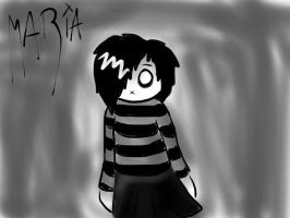 A Dark Lonely girl by kosmo1995