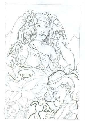Hera and Hebe-- Sketch