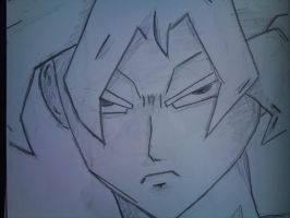 Goku SSJ, face close up by Stone-Cold-Stone