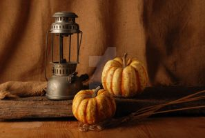 lamp and pumpkins by EnricoZbogar
