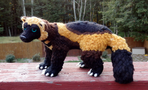 Wolverine Art Doll by DancingVulture