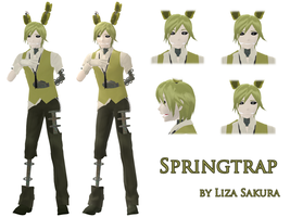 [Five Nights at Freddy's 3] Springtrap the Model by LIZASAKURA