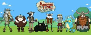 Adventure Time with Hiccup and Toothless by frecklyfoxgirl