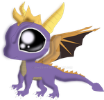 Spyro Huggable by IzwizzART