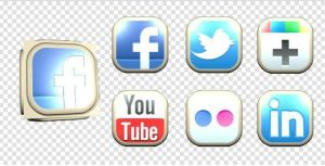 Social Network 3D Cube and Buttons by flashdo