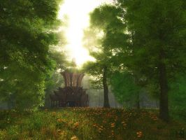 Sunlit Meadow by curious3d