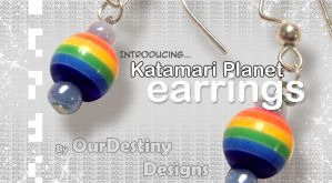 Katamari Planet Earrings by OurDestinyDesigns