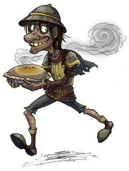 Discworld- Nobby and pie color by Bilious