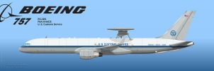 US Customs AWACS 757 1 by Wolfman-053
