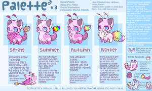 :Palette Referene Sheet v.3: by PrePAWSterous