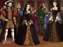 Henry the 8th courting Anne Boleyn by LadyBolena