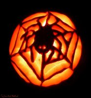 Spiderweb Jack-o-Lantern by Jenna-Rose