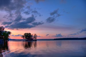 Minocqua Arbor Vitae Sunset by jvrichardson