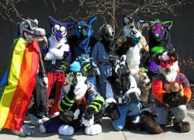 SaltySuits Group Photo - Anime Detour 2015 by SaltyPuppy