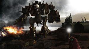 Eisenhorn fights Chaos Titan by mdcollins59