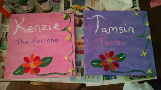 Twins room paintings by flamegirl88