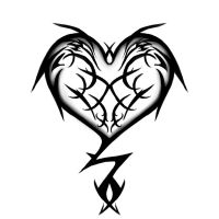 Tribal Heart Tattoo Design by fluffys-inu