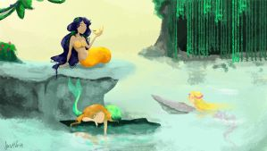 Mermaids by justvrit