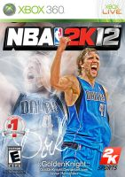 NBA 2K12 Dirk custom cover by Golden24Knight