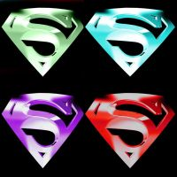 Glow-In-The-Dark Superman Symbols by NomNom2010