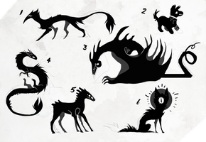{CLOSED} Silhouette Adoptables by Lordfell