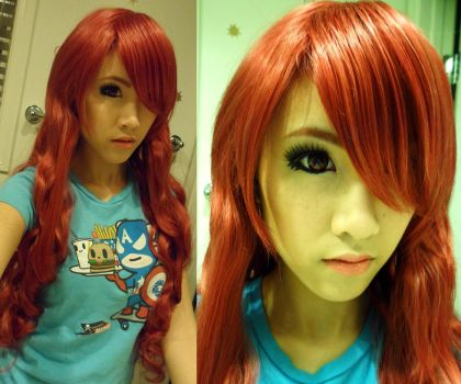 Persona 3 WIP: Hair and Makeup by the-sushi-monster