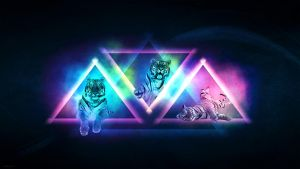 Colorful Tiger - Wallpaper by melliiex3