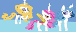 Albino Changling Sisters by Cartoonfangirl4